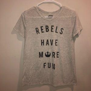 Star Wars rebels have more fun graphic tee shirt